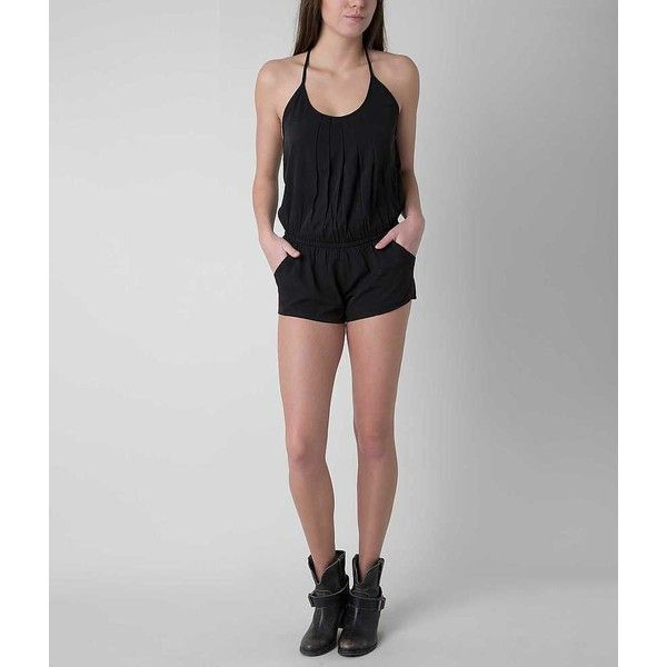 Rip Curl Mystic Romper - Black X-Small ($20) ❤ liked on Polyvore featuring jumpsuits, rompers, black, chiffon romper, playsuit romper and rip curl