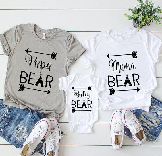 Mama Papa and Baby Bear Shirt Set. Baby Shower Gifts. Couples Shirts. Mama and Papa Shirts. Bear Shirts. Couples Tees. Dad Shirt. Mom Shirt #papashirts