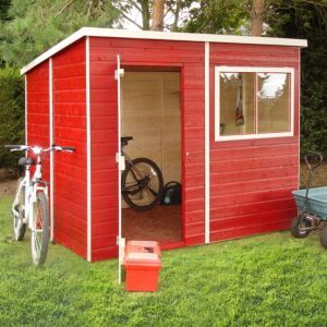 8X6 Caldey Pent Shiplap Wooden Shed With Assembly Service 400 x 300