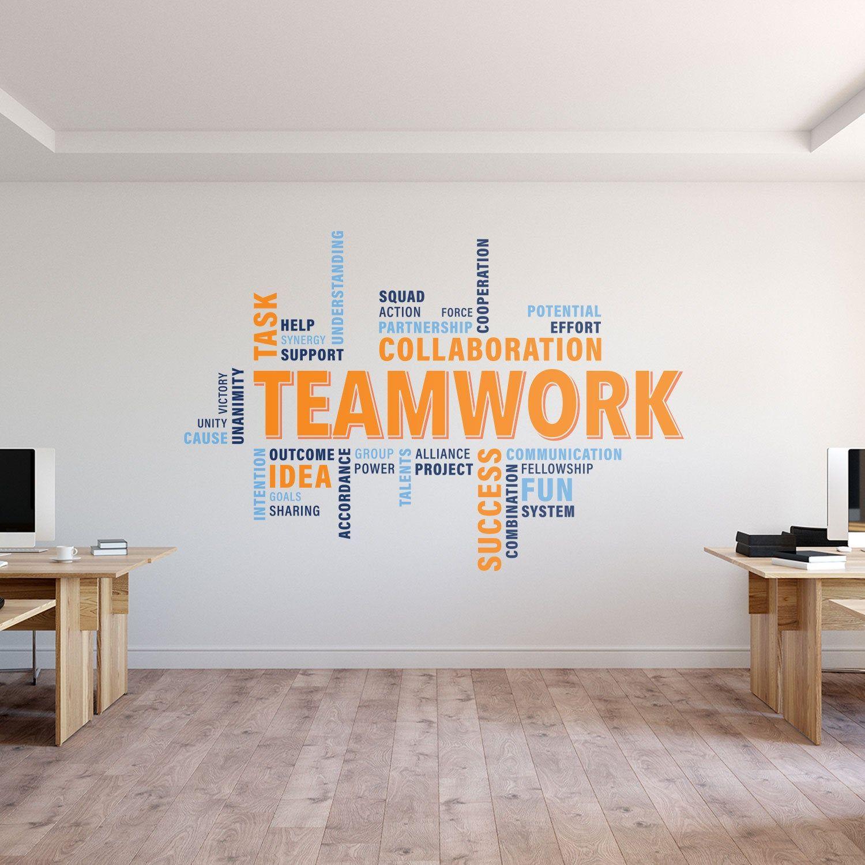Teamwork Wall Decal Teamwork Decal Office Wall Art Office Etsy Office Wall Decals Office Wall Art Office Wall Decor