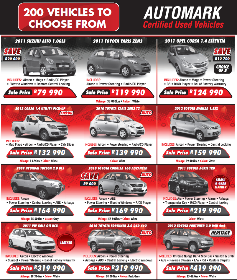 Used Cars Clearance Sale Durban South Toyota Blog Used