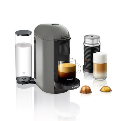 Nespresso VertuoPlus Coffee Maker & Espresso Machine with Aeroccino Milk Frother, Grey #espressomaker