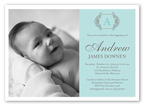 Custom Photo Baptism Christening Invitation | Photo Baptism ...