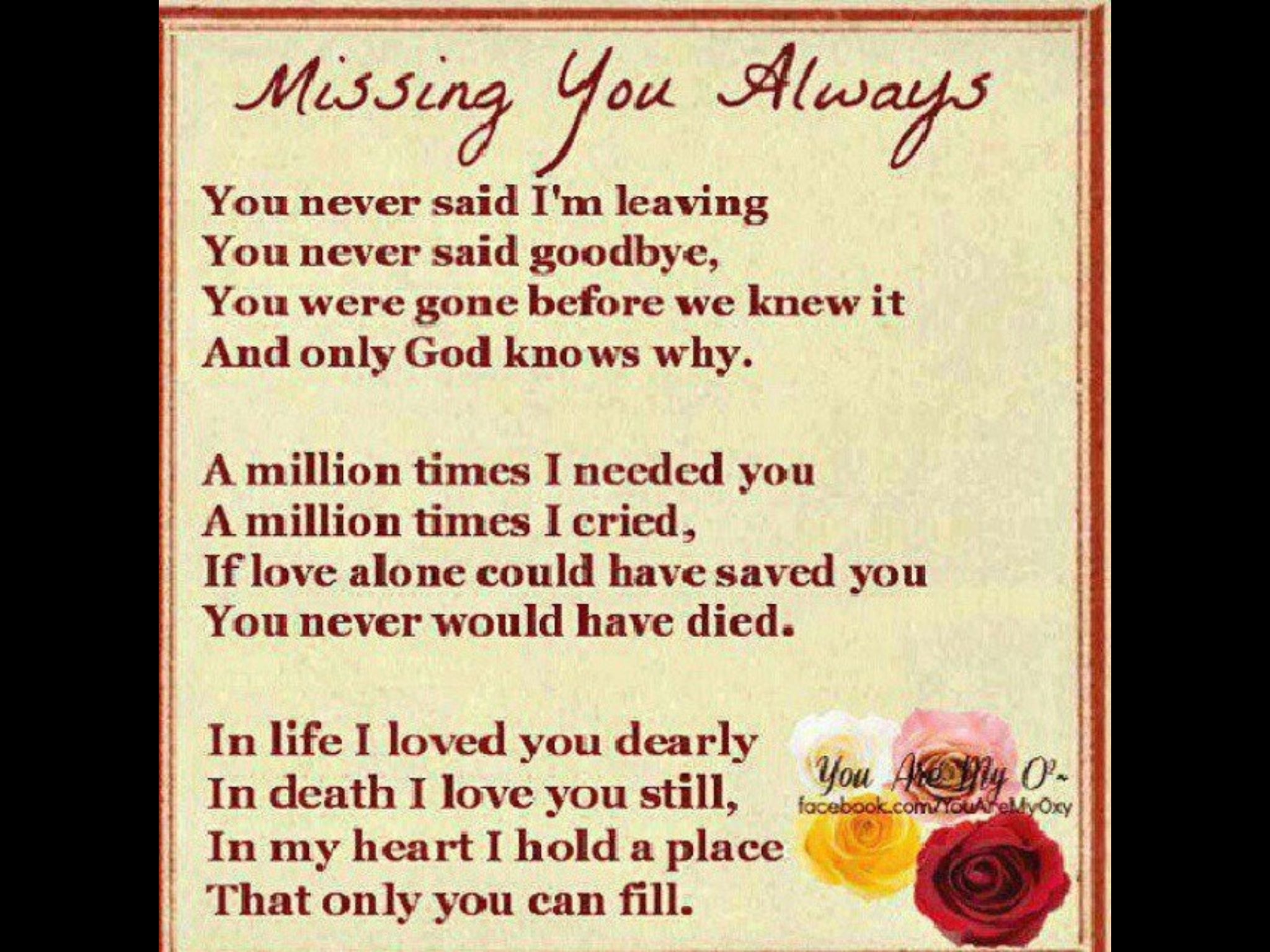 In Loving Memory Sayings And Quotes Missing You  Sayings Quotes  Pinterest  Faith Grief And Amen