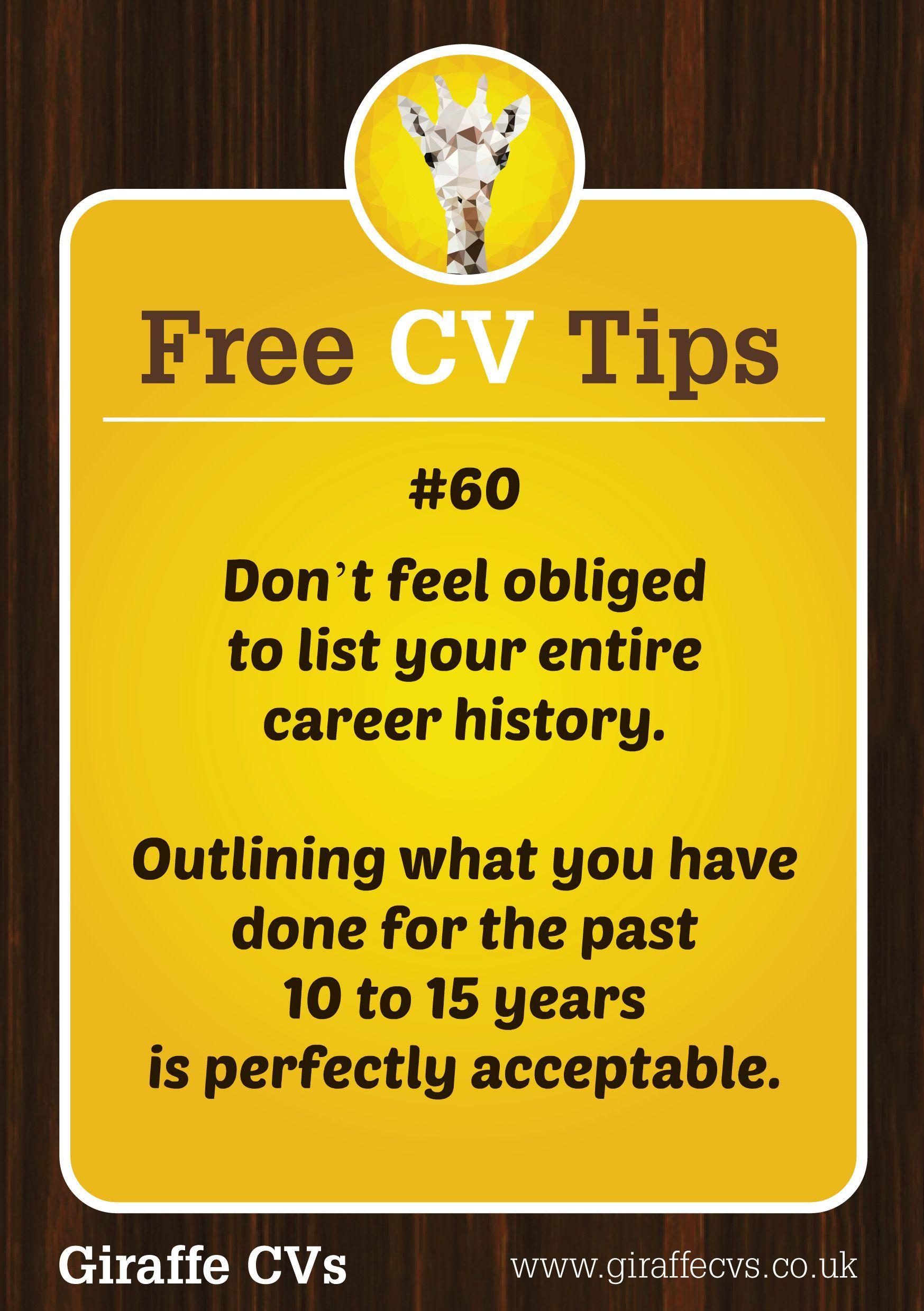 Pin by Giraffe CVs on Free CV Tips by Giraffe CVs Cv