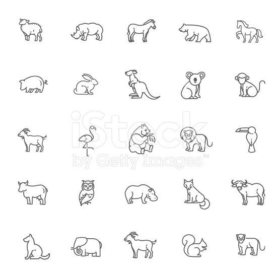 Outline Icons Animal Icon Animal Outline Monkey Tattoos