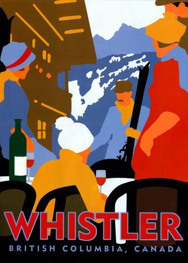 Cool vintage #Whistler Blackcomb ski resort poster. #ExploreBC