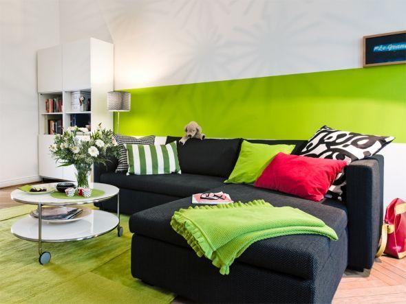 Wohnzimmer in Grün 1 Ikea Pinterest - wohnzimmer mit grun