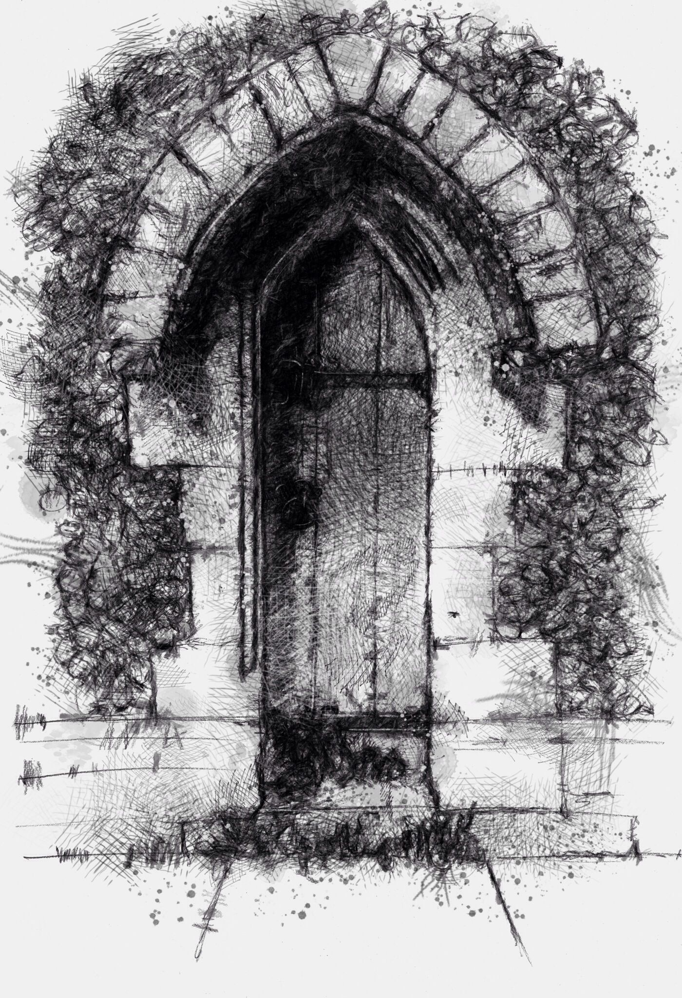 One of my sketch a day drawings church door church door drawing old sketch