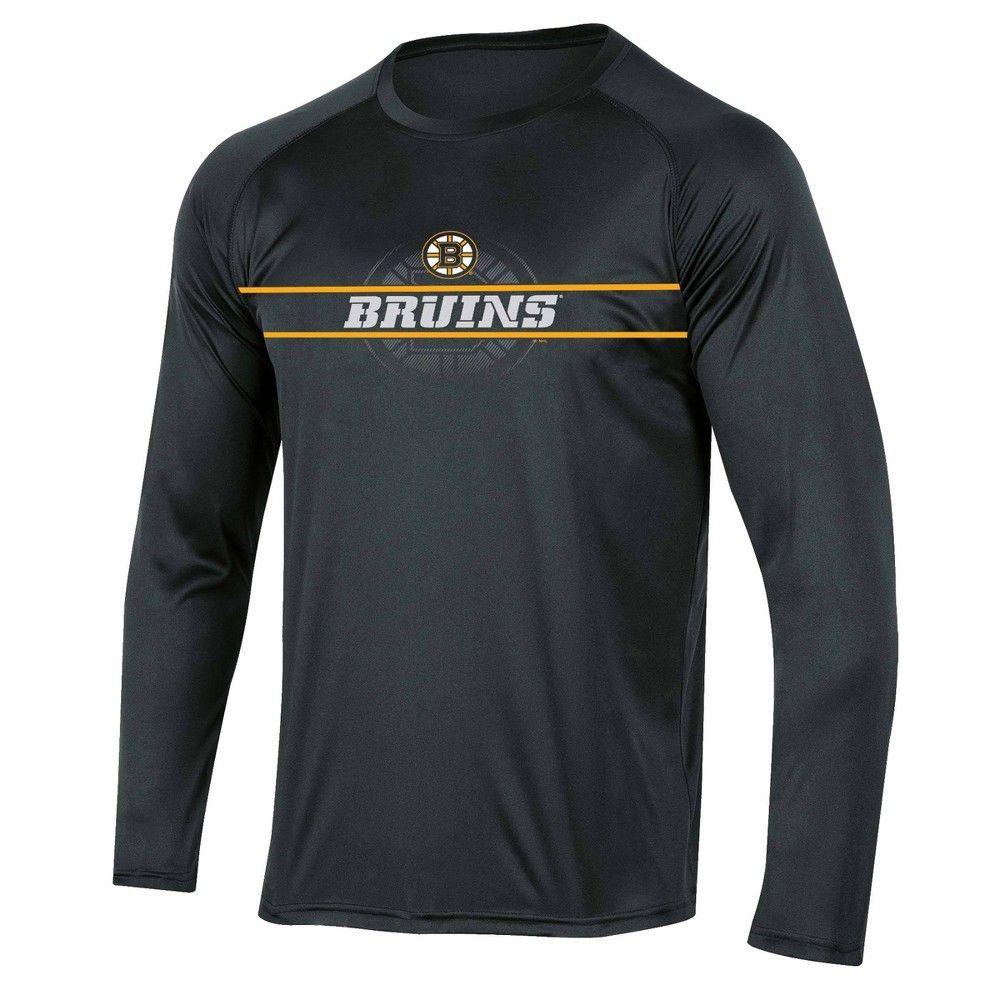Nhl Boston Bruins Men S Icing Long Sleeve Performance T Shirt S In 2020 Long Sleeve Tshirt Men Active Wear Shirts Long Sleeve [ 1000 x 1000 Pixel ]