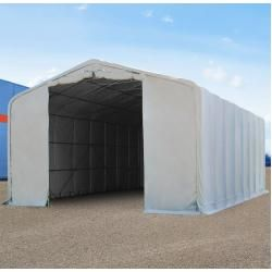 Photo of Tent garage 8×36 m with 4.0×4.7 m gate, Pvc 550 g / m² gray | with static (underground) garage tent tool