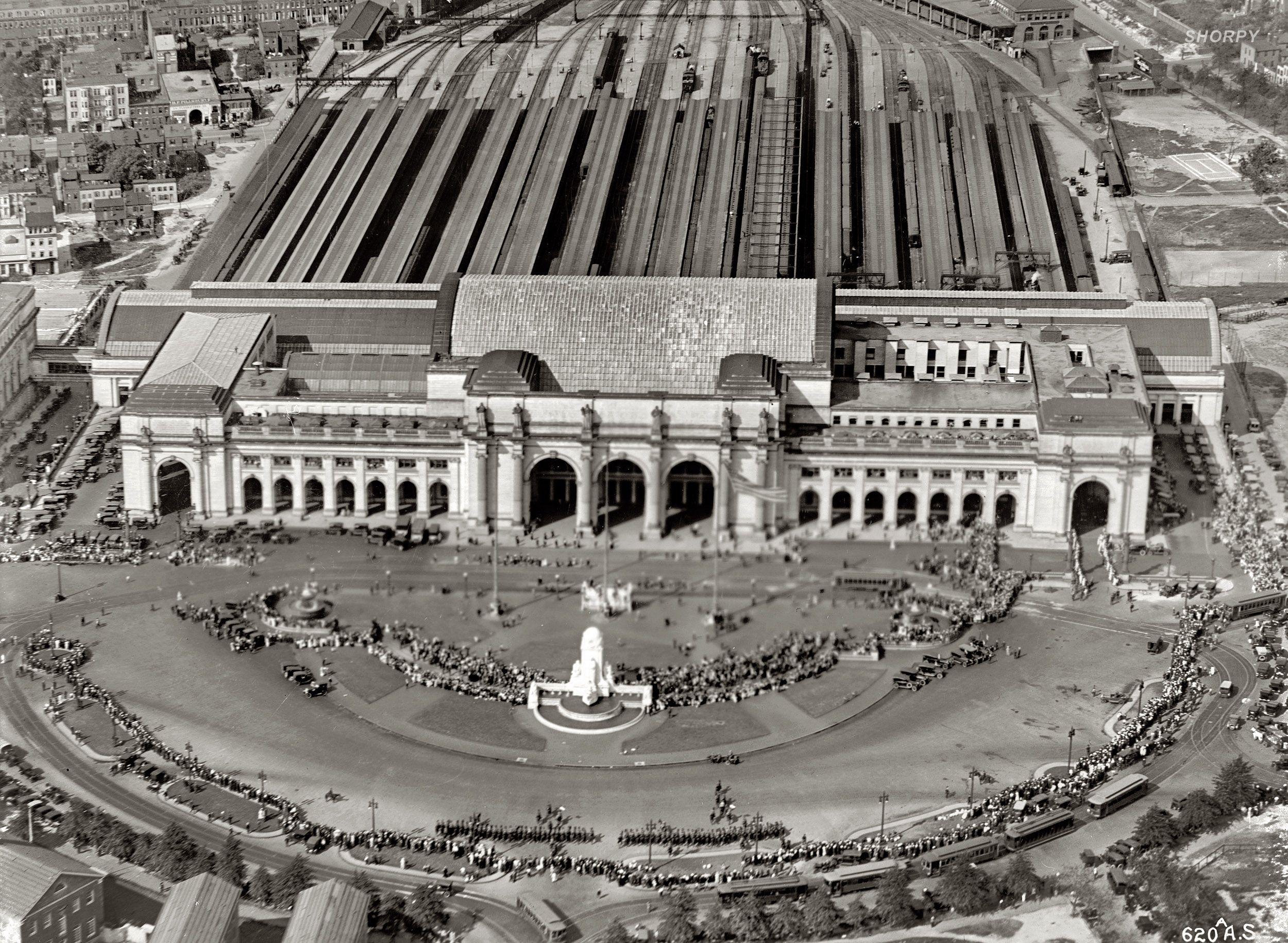 Union Station from the Air Washington, D.C., circa 1919