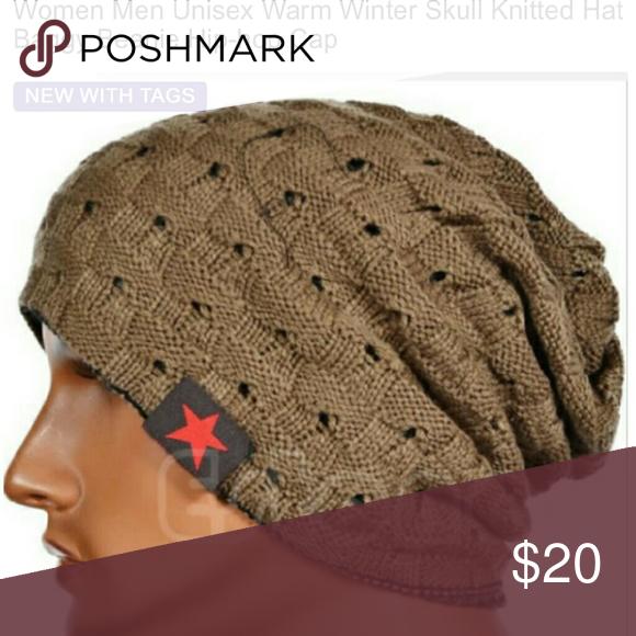 efe1ecf4cf8 Unisex Warm Winter Skull Knitted Hat Cap