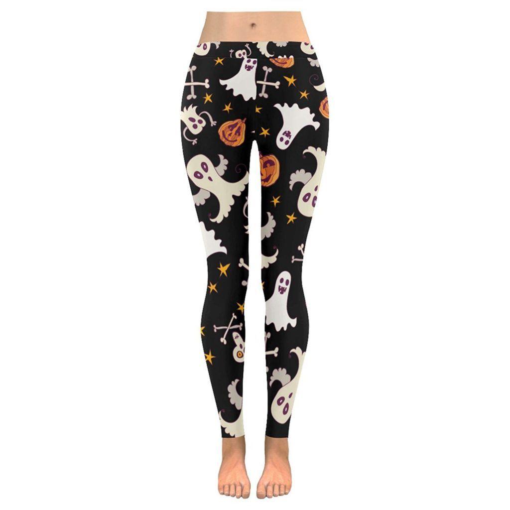 Thanksgiving Pumpkin Turkey Custom Stretchy Capri Leggings Skinny Pants for Yoga Running Pilates Gym 2XS-5XL