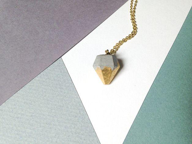 Colliers - Concrete diamond necklace - Een uniek product van gravelanddust op DaWanda