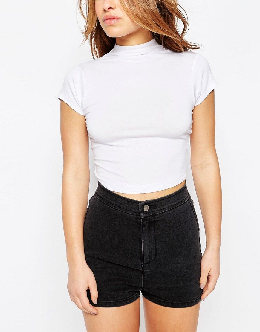 64c26c554e10ba PETITE The Ultimate Super Crop Top With Cap Sleeves | Pinterest ...