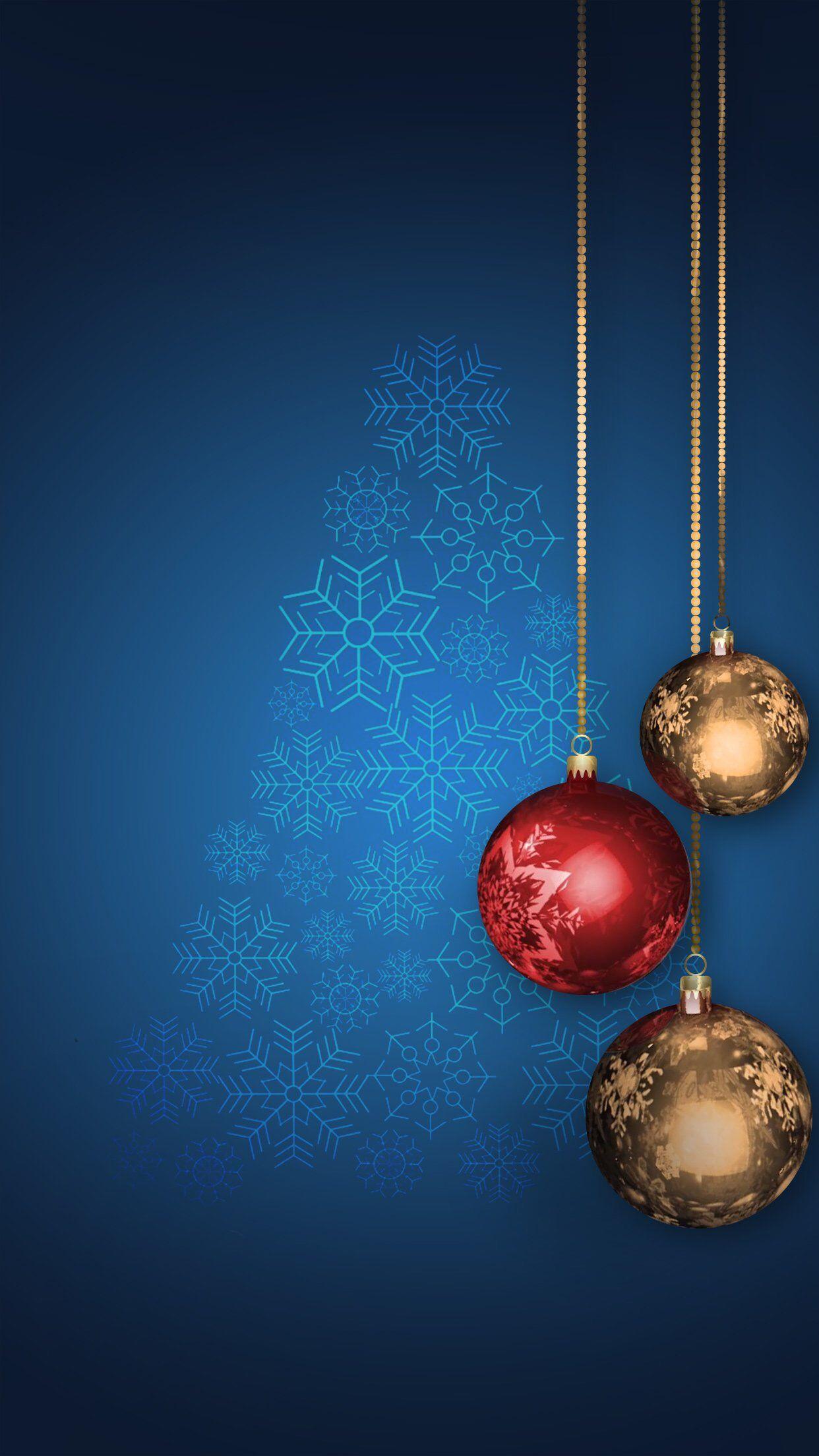 wallpaper christmas blue gold red tree Tarjetas