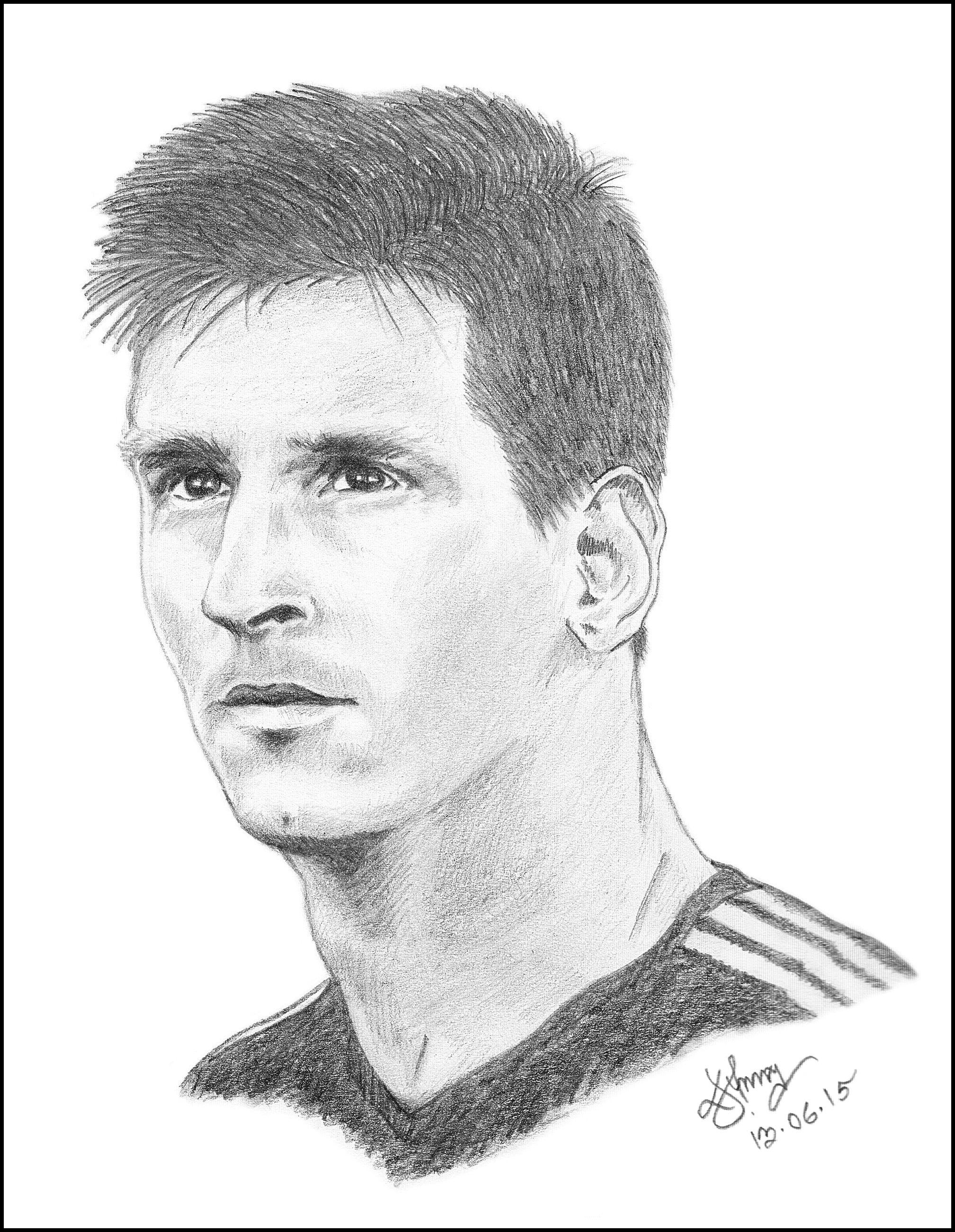 Leo Messi Sketch Leo Messi Photo And Video Messi