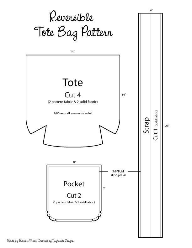 Diy Reversible Tote Bag | More Tote bag patterns and Tote bag ideas