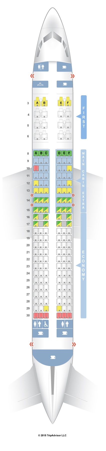 Seatguru Seat Map American Airlines Boeing 737 800 738 V1