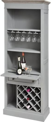 Grey Drinks Cabinet Mobile Bevande Grigio
