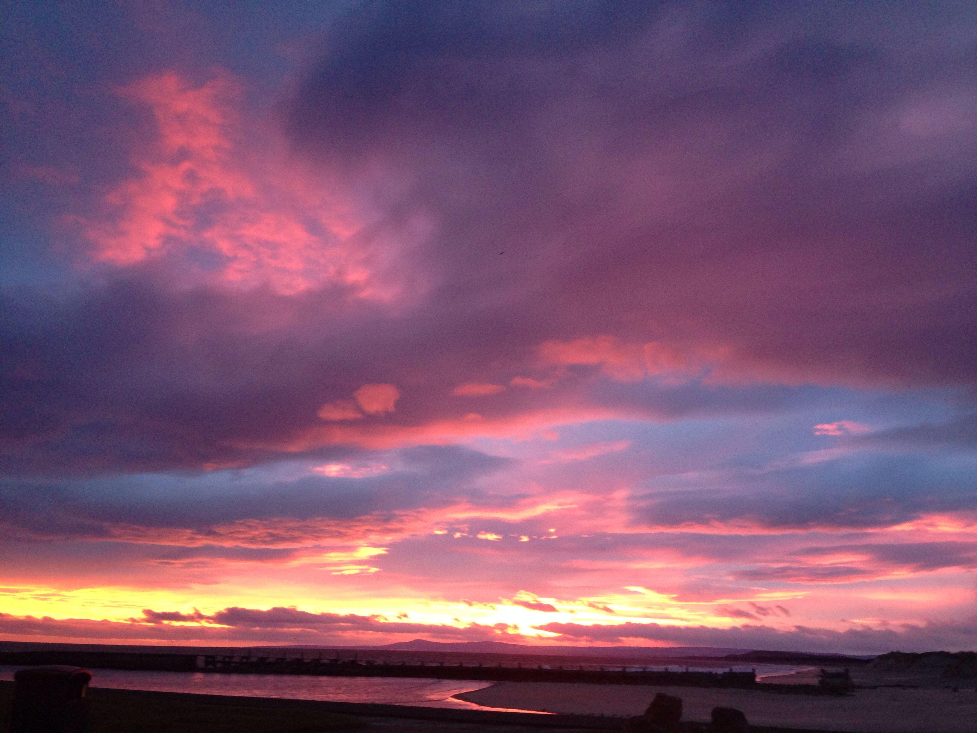East Beach Lossiemouth Sunrise Sunset Clouds Sunrise Pink clouds sunset dusk coast rocks