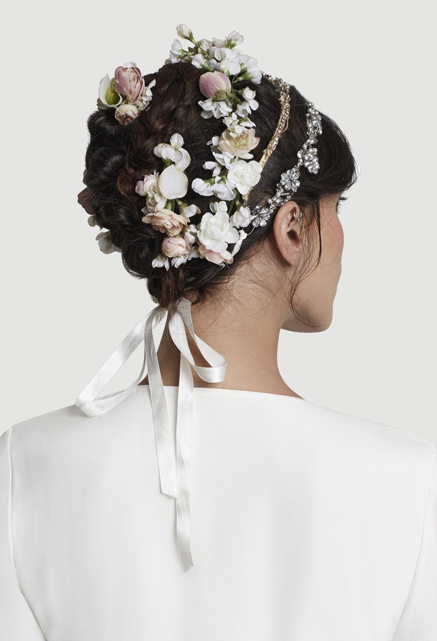 The Roxy Golden Headband | Silk flowers, Veil and Wedding