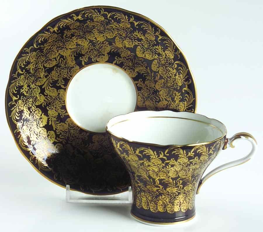 C869 black flat cup saucer set by aynsley john saucer