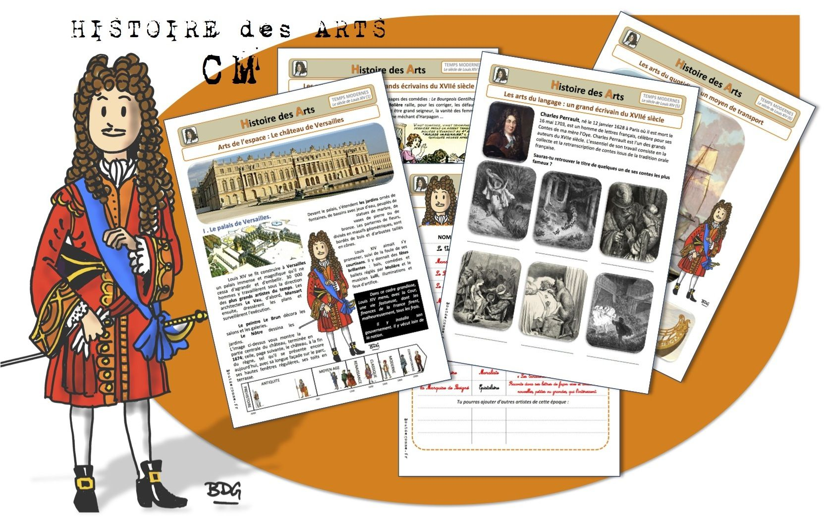 Cm histoire des arts le si cle de louis xiv histoire - Le jardin de versailles histoire des arts ...