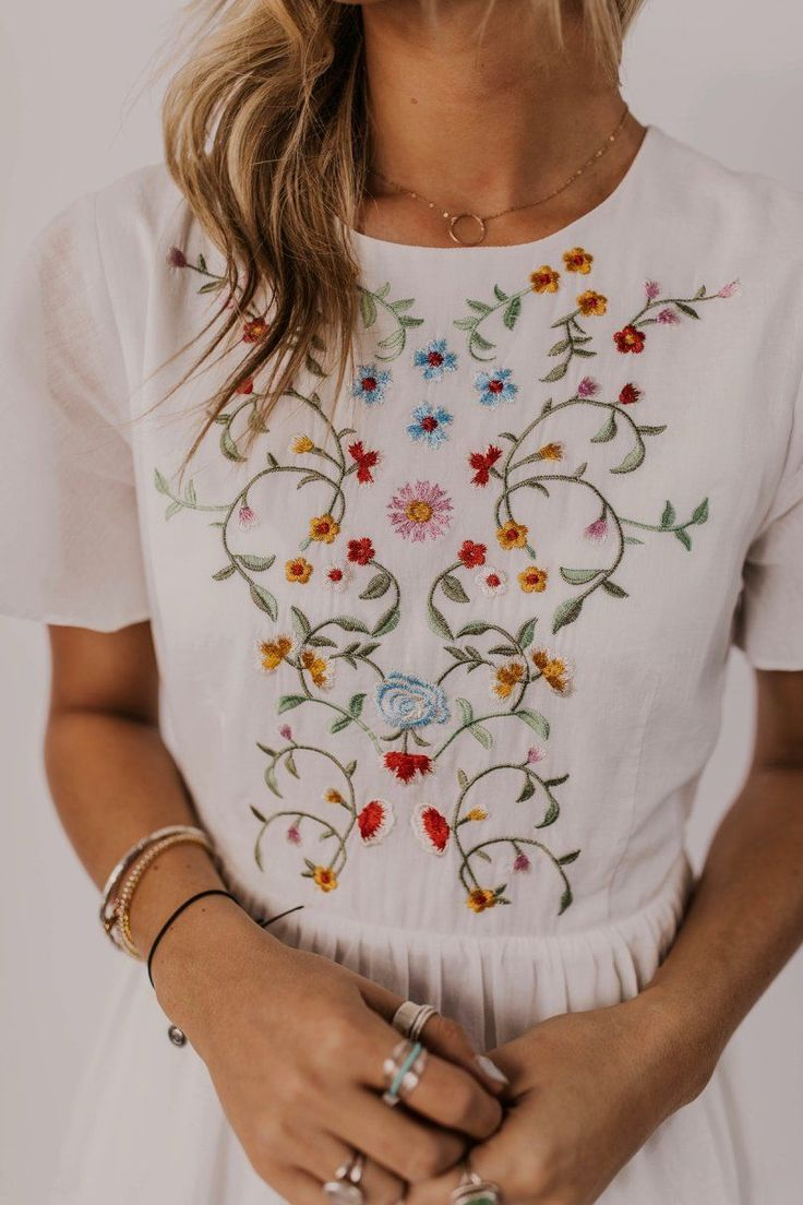 Moira Embroidered Dress - #Dress #Embroidered #Moira #summer