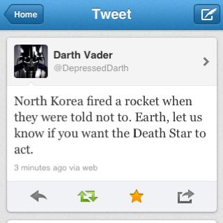 Vader to ready the Death Star :)