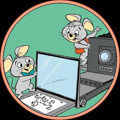 Pixie and Dixie at the Xerographic Process Animation and Illustrations - copy blueprint start animation