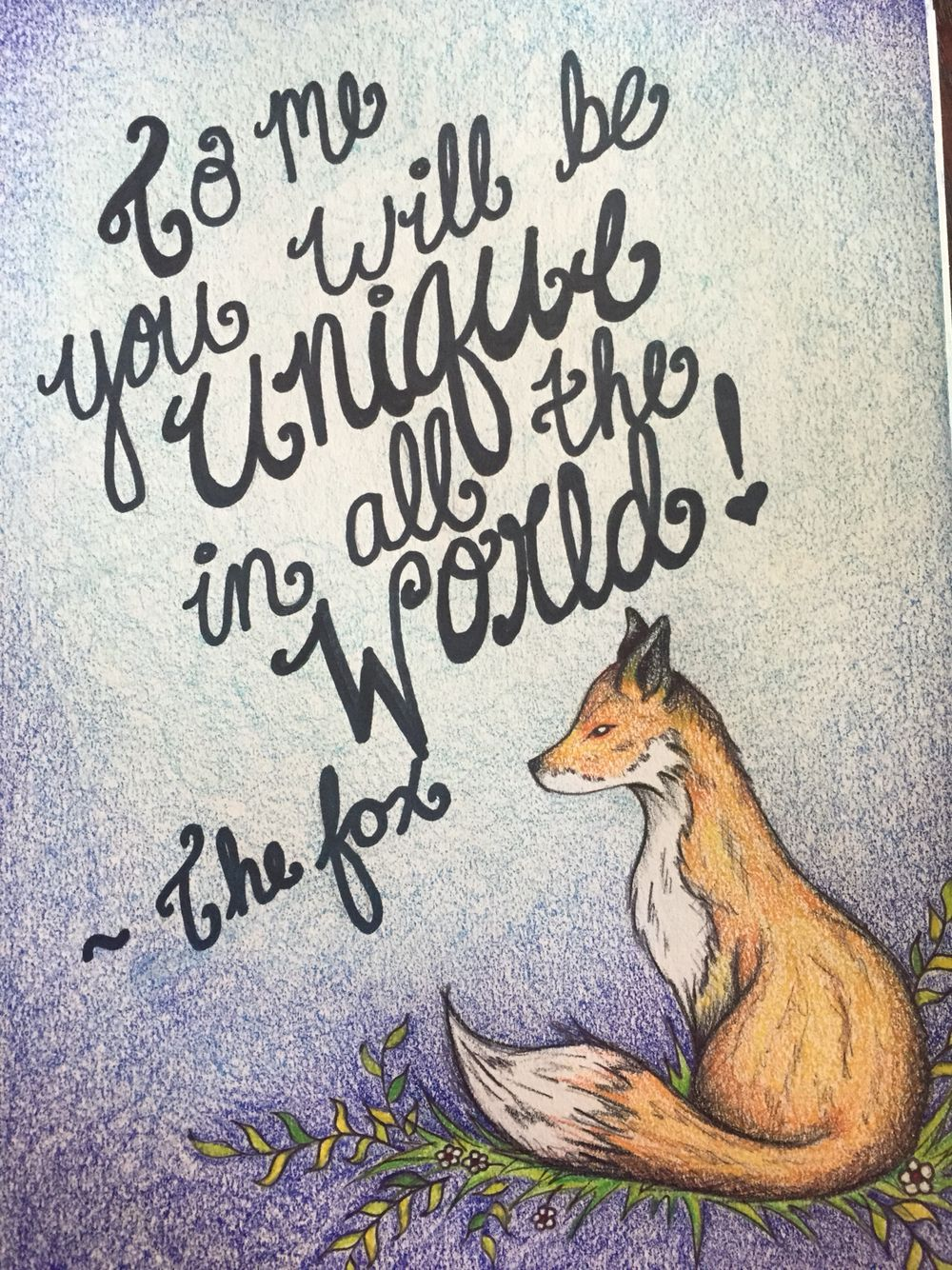 Items Similar To The Little Prince Quote Inspirational: The Little Prince Fox Quote