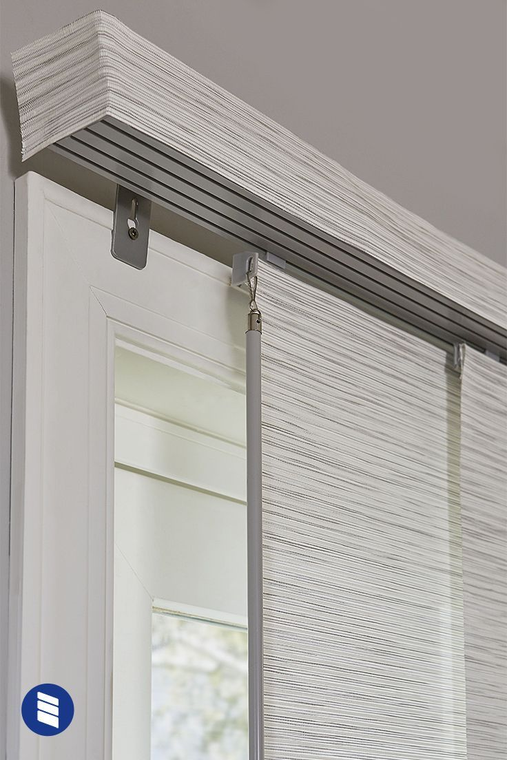 Want a more stylish sliding glass door covering than vertical blinds