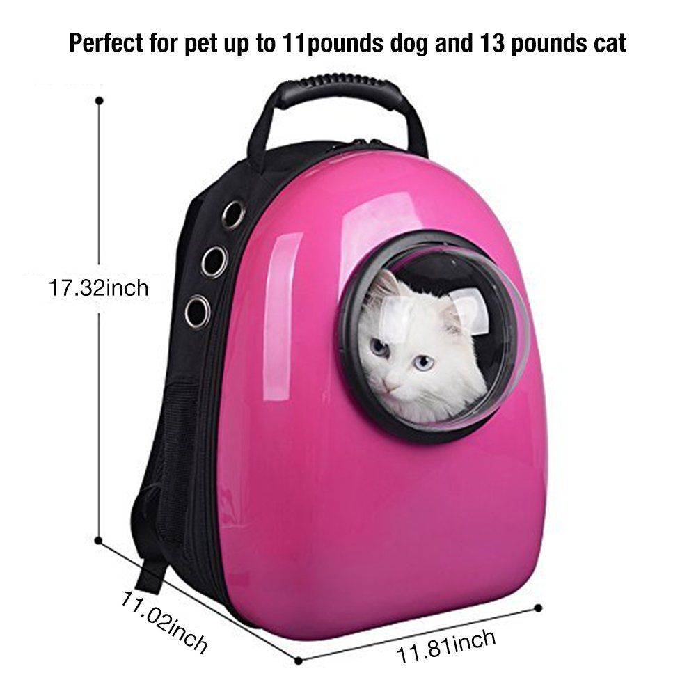 Pettom Dog Cat Pet Carrier Backpack Airline Approved Travel Hiking Bubble  Backpack    Read more 580b89884e