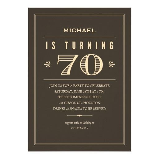 70th Birthday Invitations For Men Zazzle Com 70th Birthday Invitations 60th Birthday Invitations 90th Birthday Invitations
