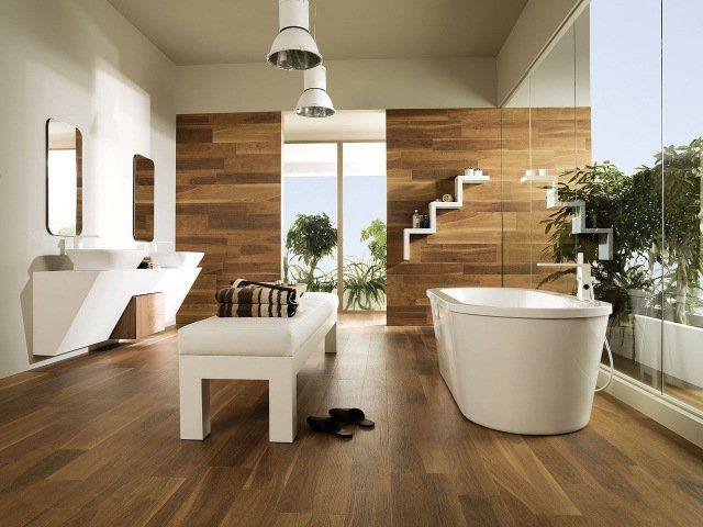 Parquet salle de bains stratifié en 24 photos inspirantes Bathroom - Stratifie Mural Salle De Bain