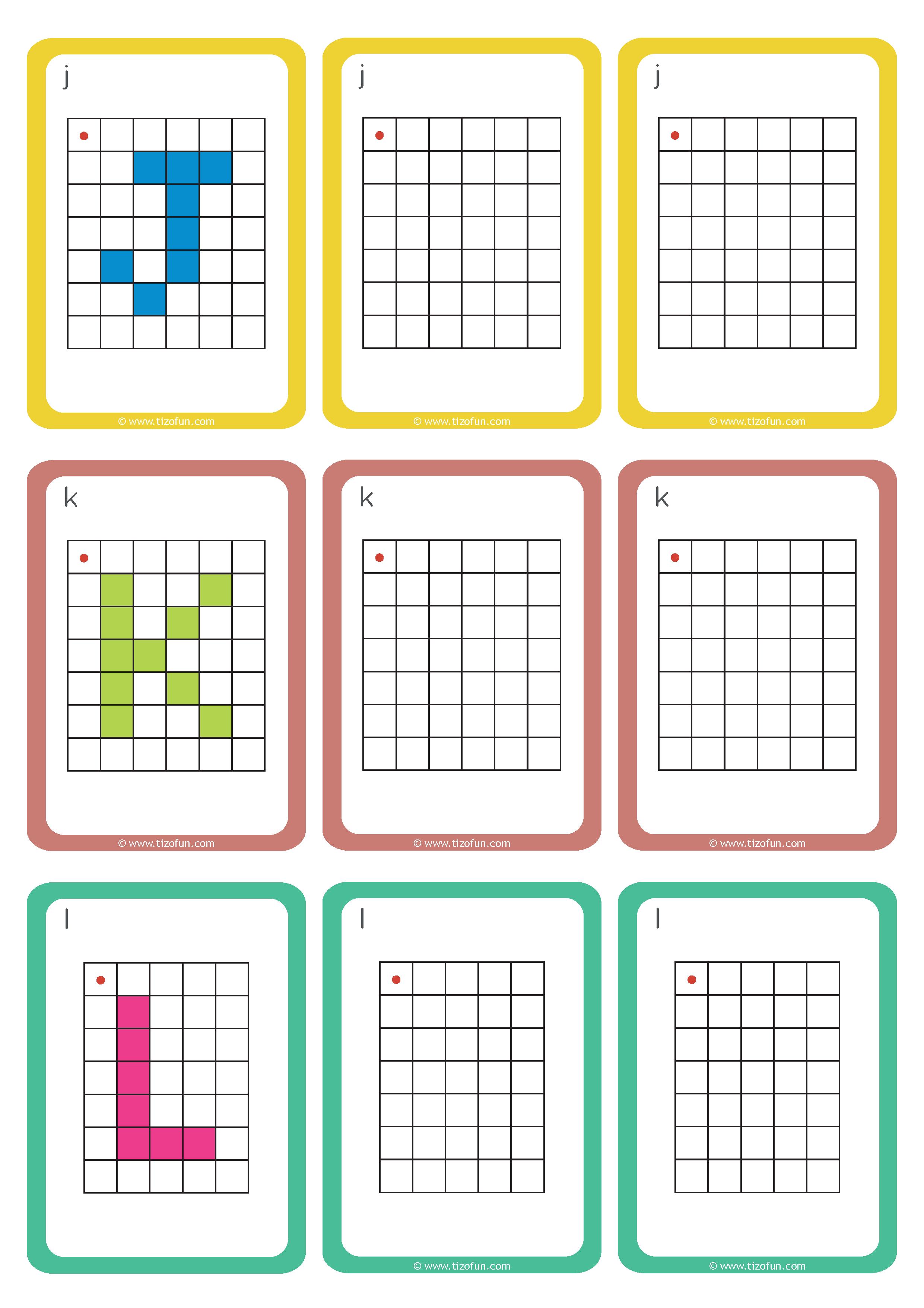Maths Deplacement Dans Un Quadrillage Reproduire Les Lettres 04