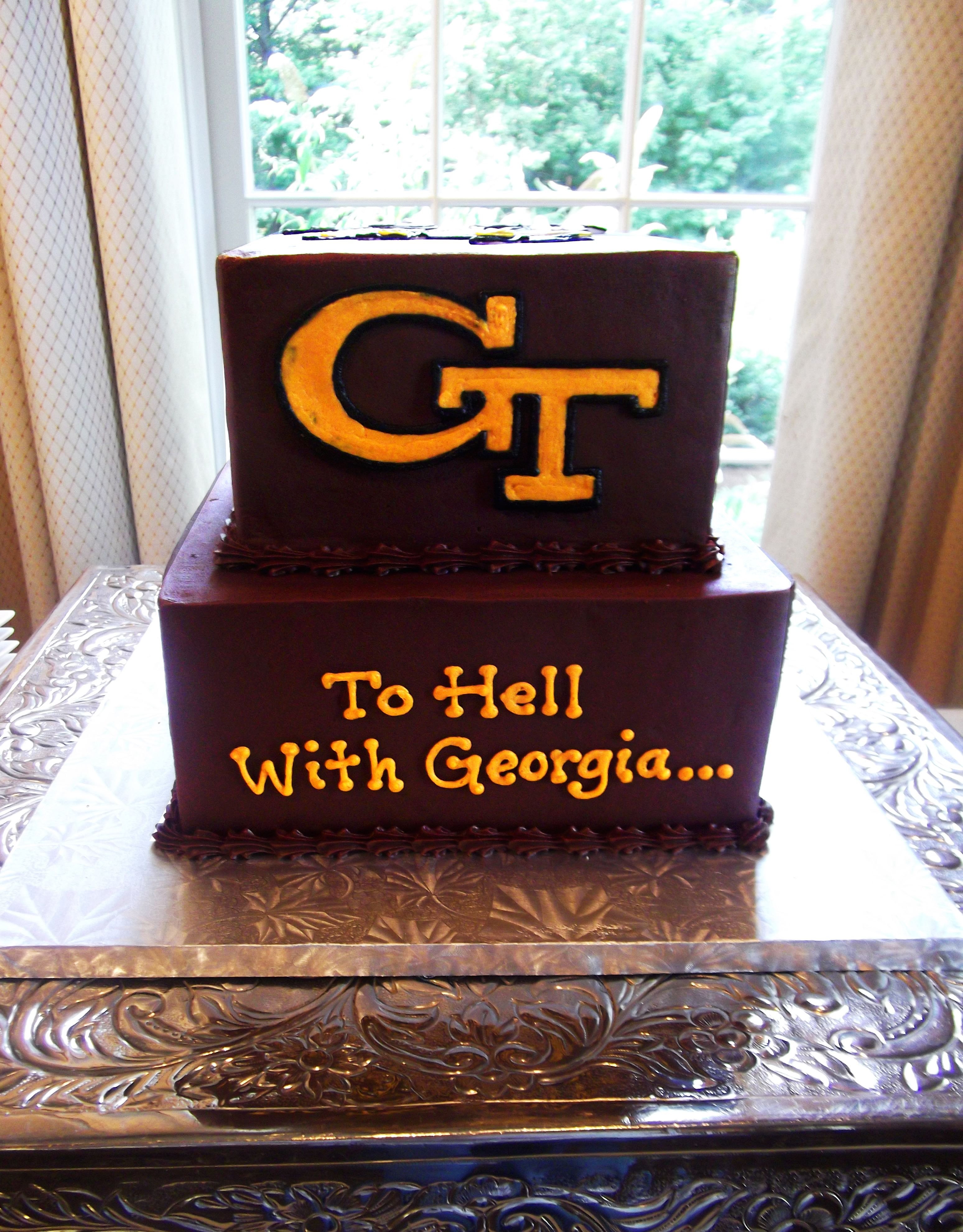 GA Tech cake (With images) tech yellow jackets