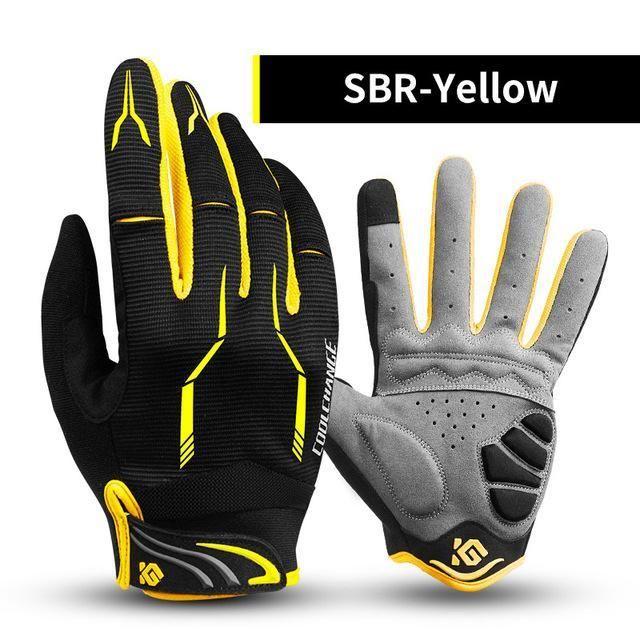 Coolchange Cycling Gloves Full Finger Thermal Gel Bike Sport