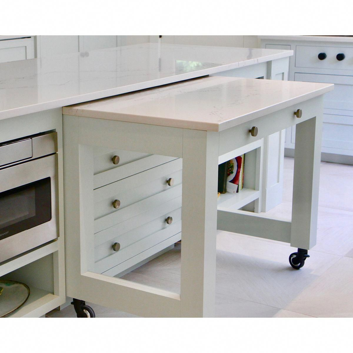 Now You See It Now You Don T This Pull Out Countertop Instantly Adds More Countertop Space When You Need Custom Kitchen Cabinets Furniture Kitchen Renovation