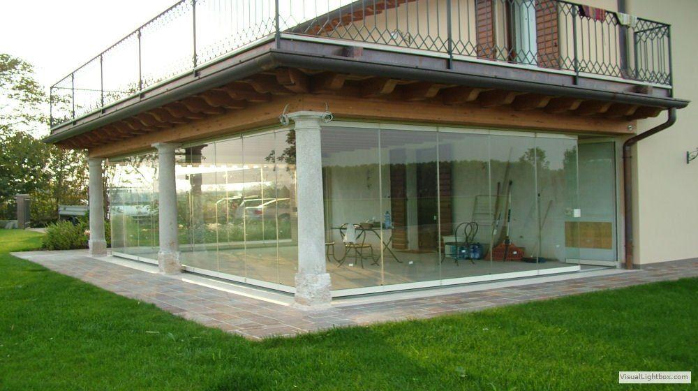 Veranda su tre lati con porticato esterno vista esterna for Portico moderno
