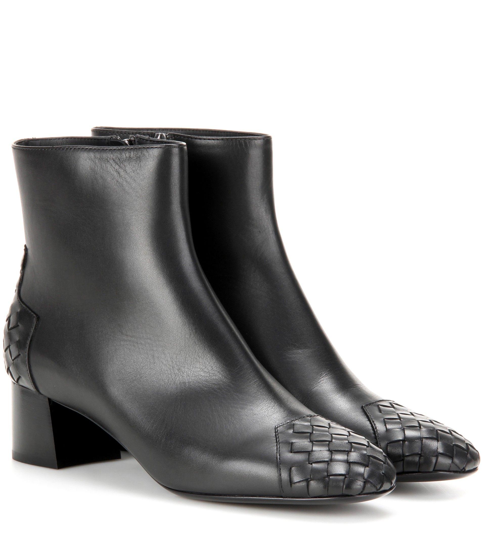 Bottega Veneta Leather 45 ankle boots Black              $129.00