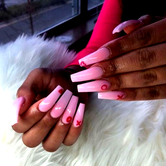 Valentine Nail Design Red Pink Hearts For Valentines Lobelle Rotterdam Valentine Nail Desig In 2020 Nail Designs Valentines Valentine S Day Nail Designs Simple Nails