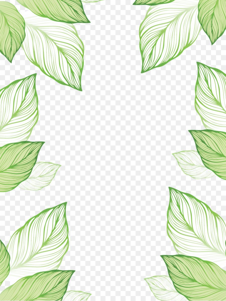 Leaf Green Hand Painted Leaves Border Green Leaf Background Painted Leaves Leaf Border