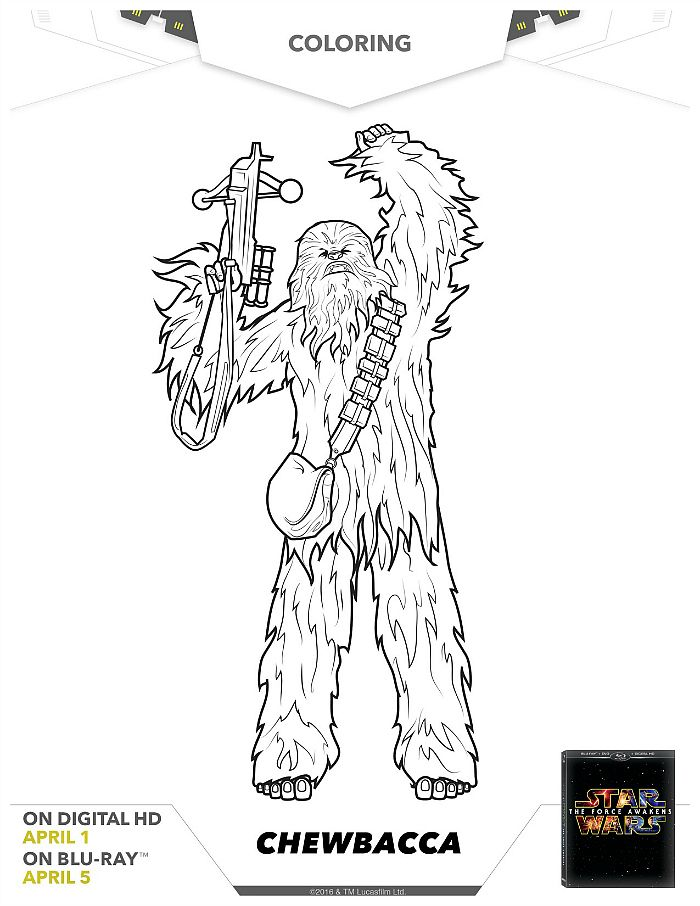 Star Wars Chewbacca Coloring Page   Star wars coloring ...