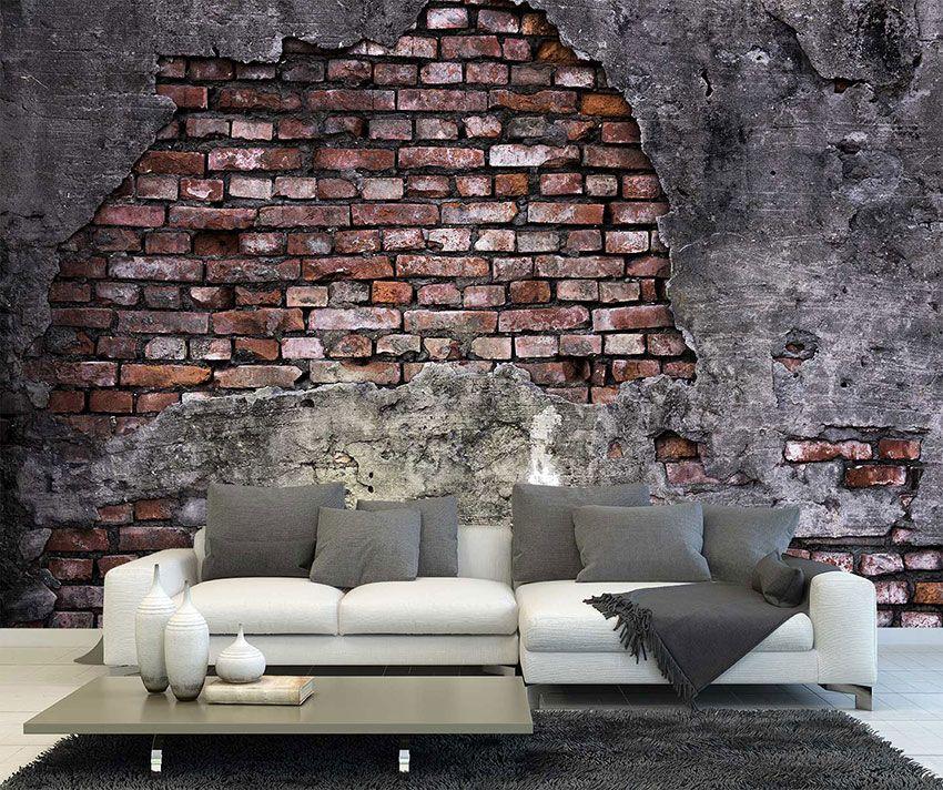 Maak je muur stoer en trendy met dit fotobehang van een for Behang per m2