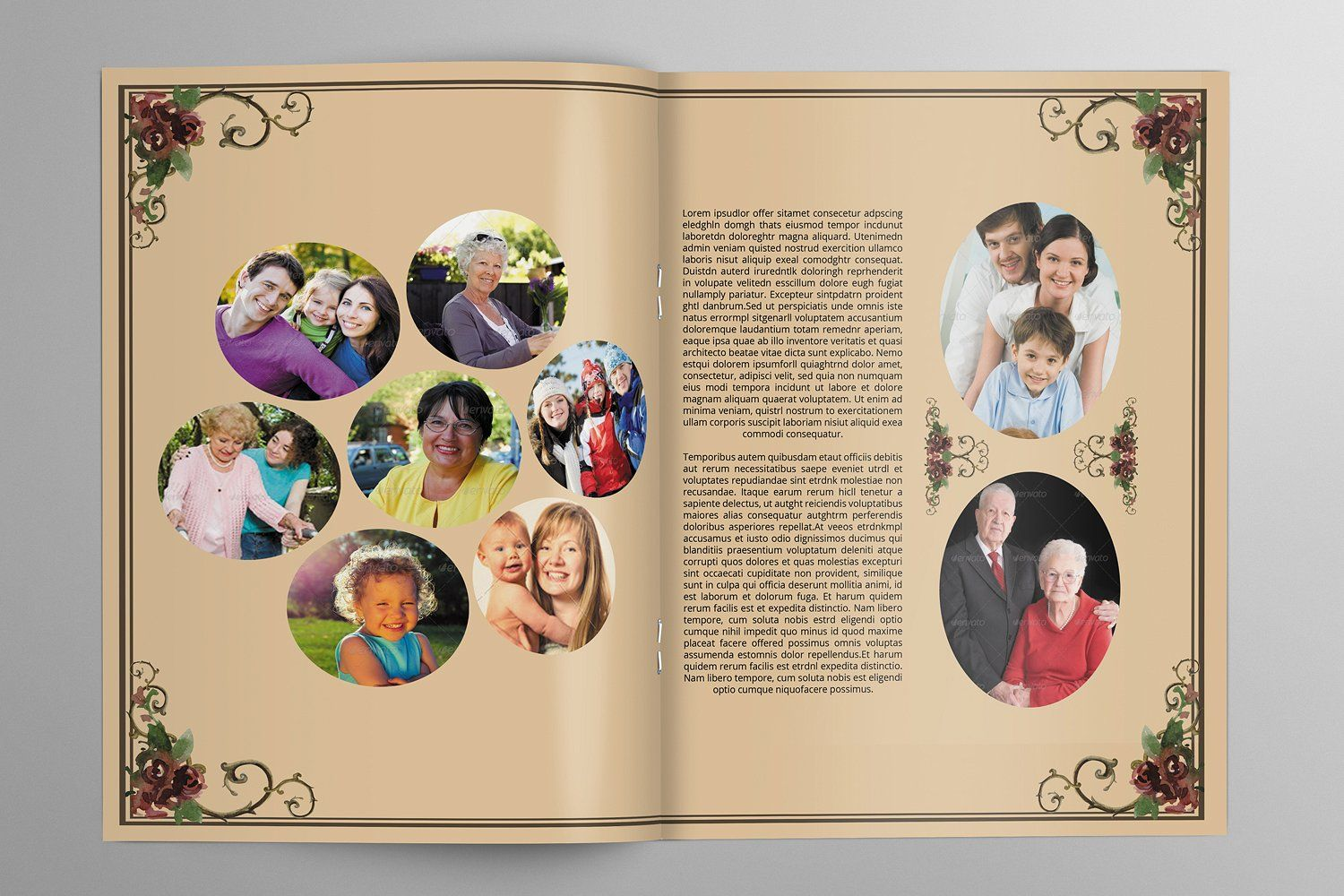 8 page funeral booklet templatev510 booklet template