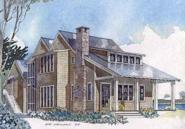 Like Exterior And Interior Would Enclose Kitchen Eastern Cove Retreat Coastal House Plans Southern Living House Plans Narrow Lot House Plans