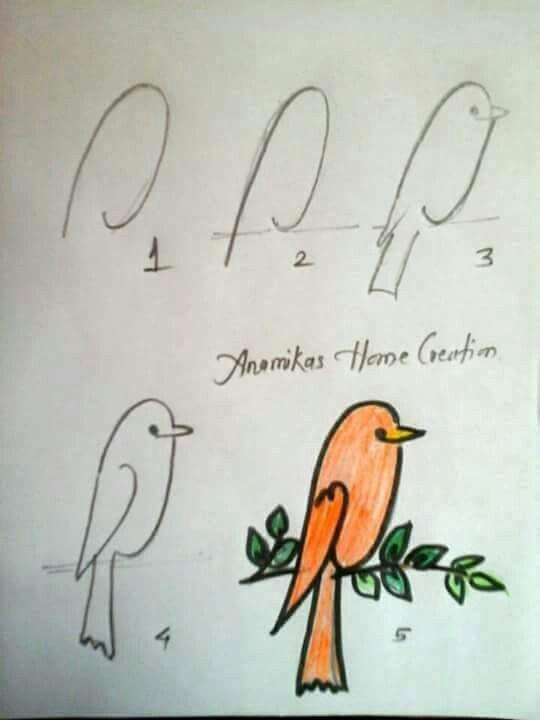 Pajarito Creativity In 2018 Pinterest Dessin Dessin Oiseau